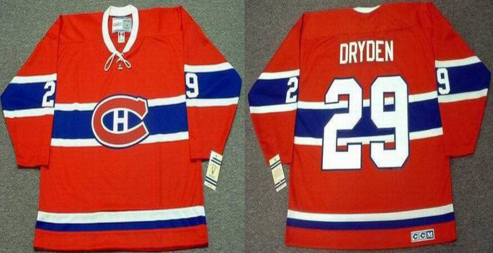 2019 Men Montreal Canadiens 29 Dryden Red CCM NHL jerseys