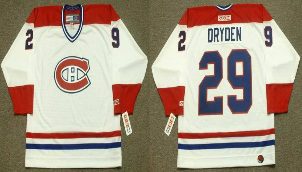 2019 Men Montreal Canadiens 29 Dryden White CCM NHL jerseys