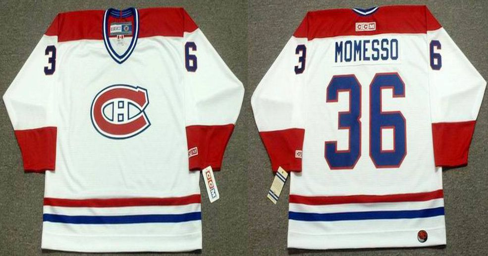 2019 Men Montreal Canadiens 36 Momesso White CCM NHL jerseys