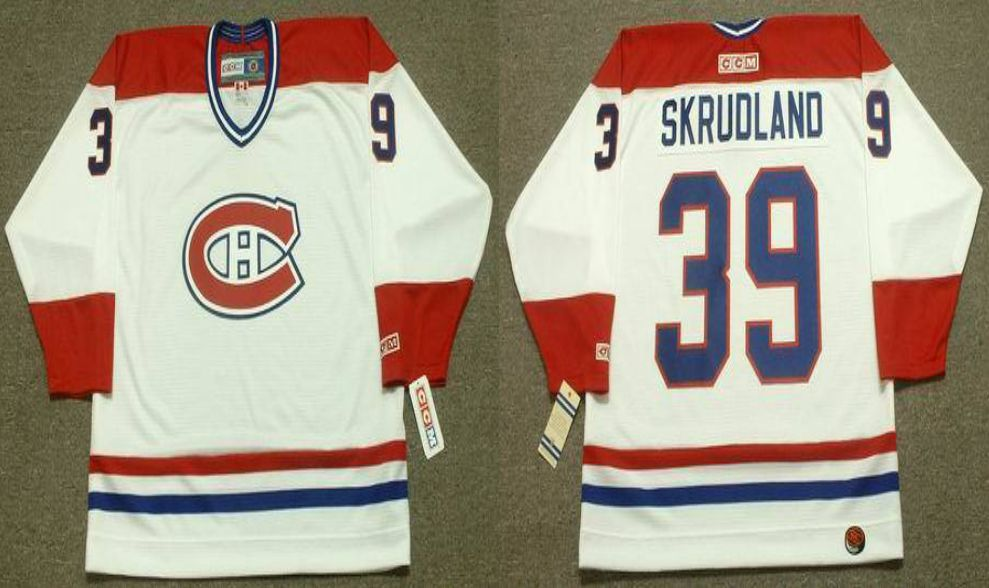 2019 Men Montreal Canadiens 39 Skrudland White CCM NHL jerseys