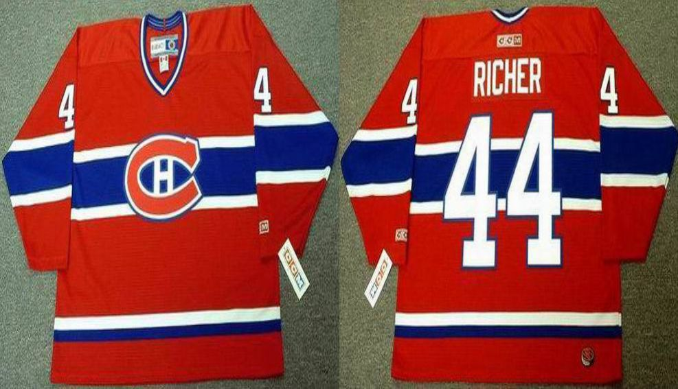 2019 Men Montreal Canadiens 44 Richer Red CCM NHL jerseys
