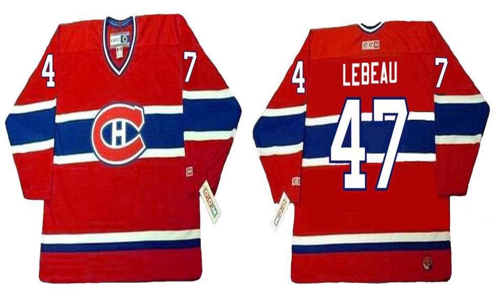2019 Men Montreal Canadiens 47 Lebeau Red CCM NHL jerseys