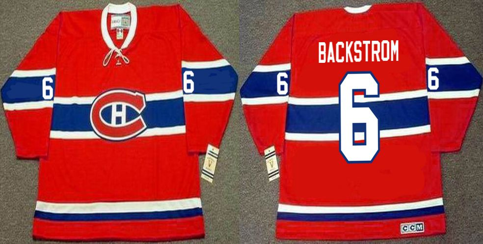 2019 Men Montreal Canadiens 6 Backstrom Red CCM NHL jerseys