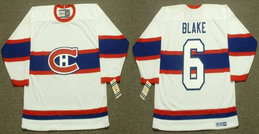 2019 Men Montreal Canadiens 6 Blake White CCM NHL jerseys