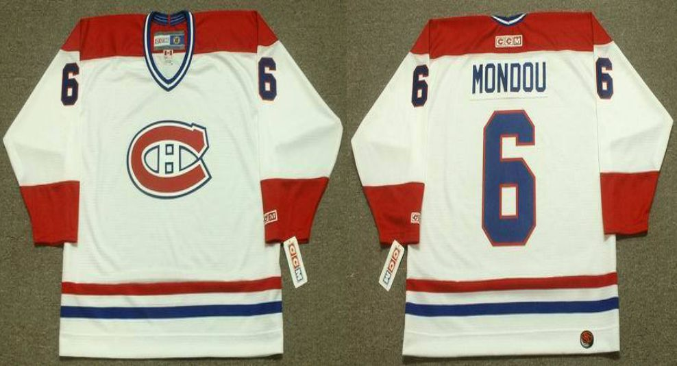 2019 Men Montreal Canadiens 6 Mondou White CCM NHL jerseys