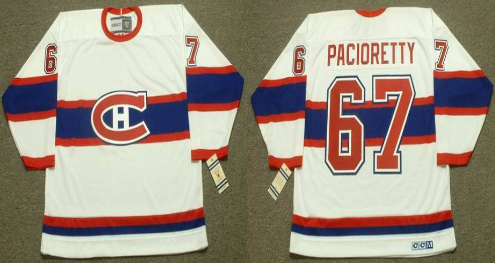 2019 Men Montreal Canadiens 67 Pacioretty White CCM NHL jerseys