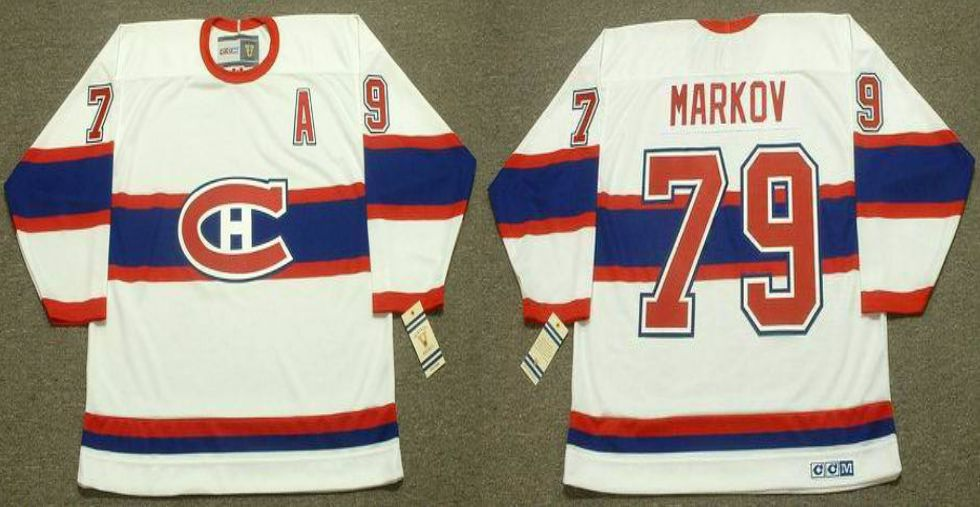 2019 Men Montreal Canadiens 79 Markov White CCM NHL jerseys