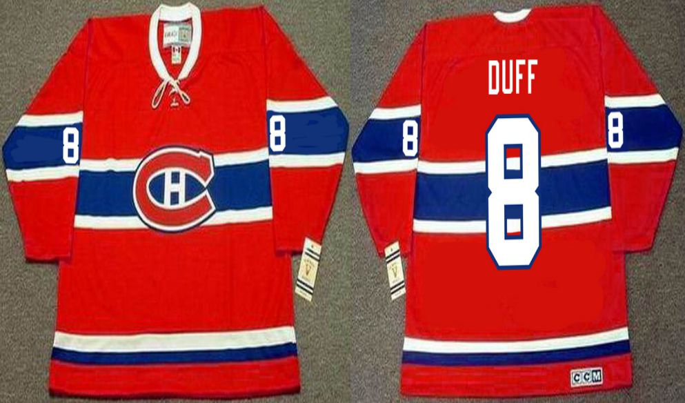 2019 Men Montreal Canadiens 8 Duff Red CCM NHL jerseys