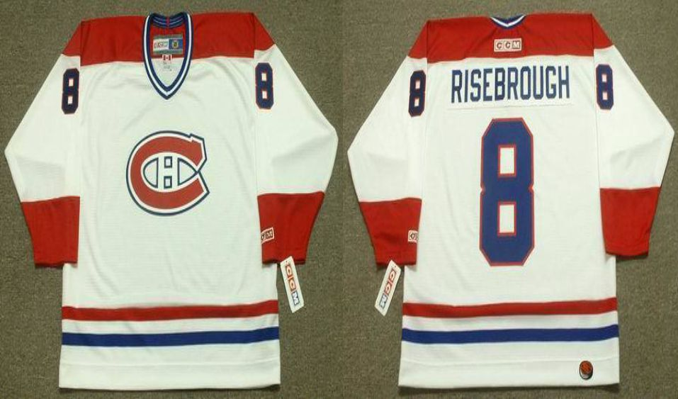 2019 Men Montreal Canadiens 8 Risebrough White CCM NHL jerseys