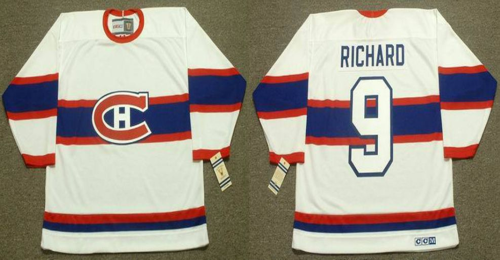 2019 Men Montreal Canadiens 9 Richard White CCM NHL jerseys