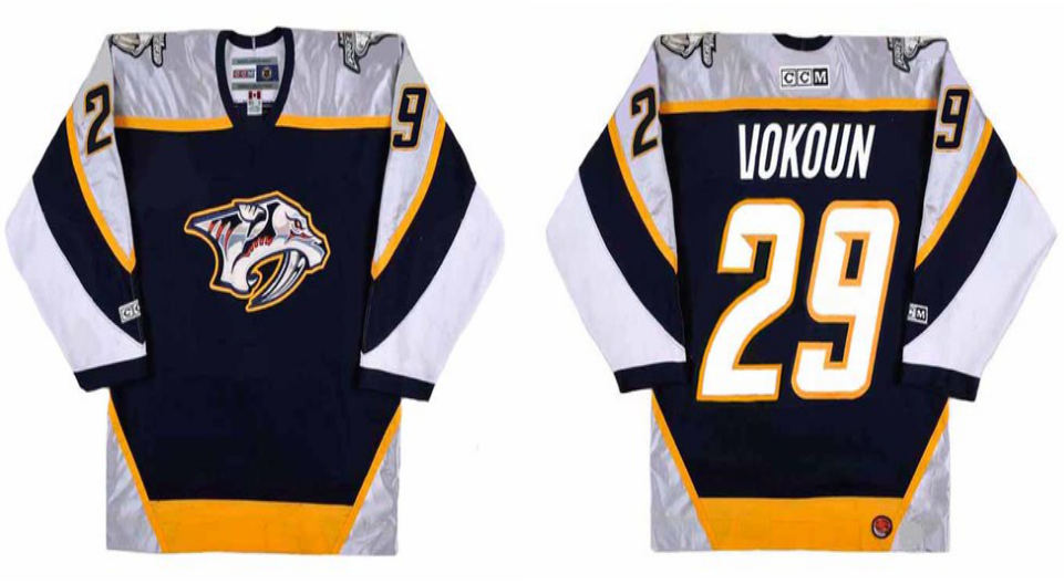 2019 Men Nashville Predators 29 Vokoun black CCM NHL jerseys