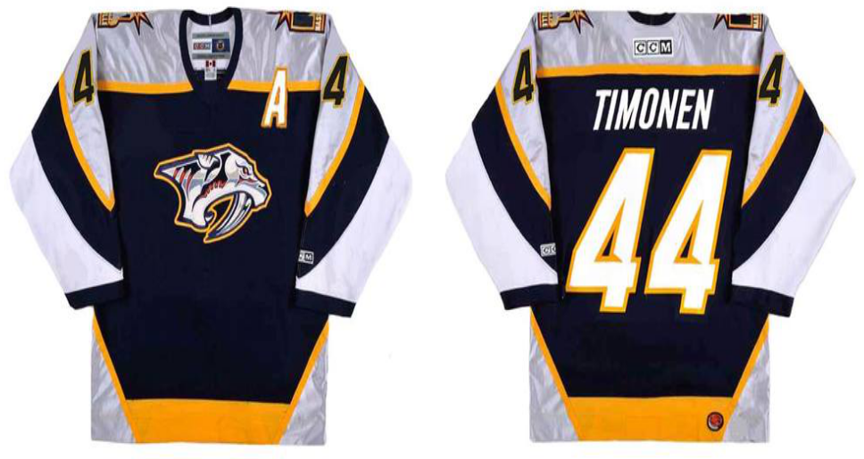 2019 Men Nashville Predators 44 Timonen black CCM NHL jerseys