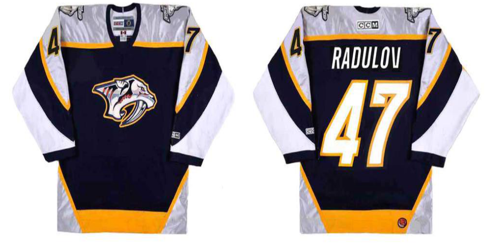 2019 Men Nashville Predators 47 Radulov black CCM NHL jerseys