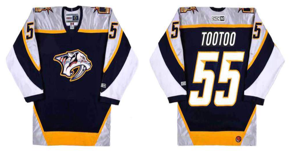 2019 Men Nashville Predators 55 Tootoo black CCM NHL jerseys