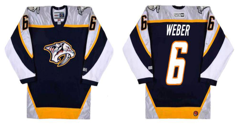 2019 Men Nashville Predators 6 Weber black CCM NHL jerseys
