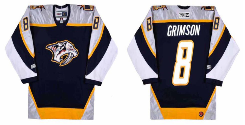2019 Men Nashville Predators 8 Grimson black CCM NHL jerseys
