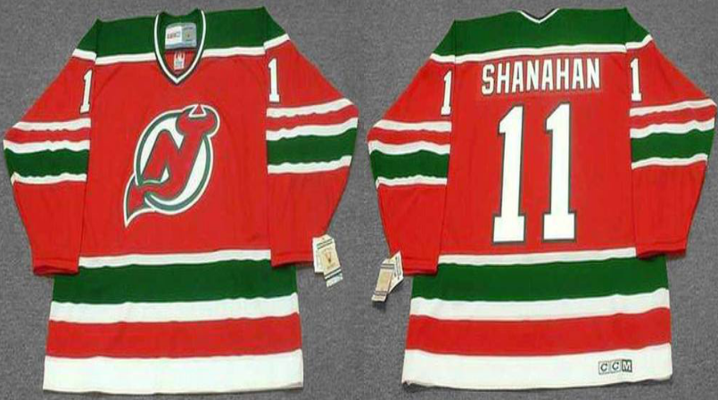 2019 Men New Jersey Devils 11 Shanahan red CCM NHL jerseys