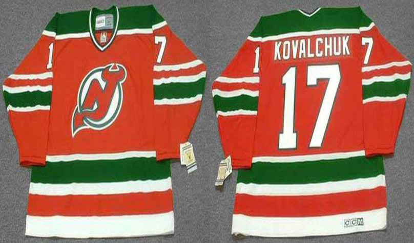 2019 Men New Jersey Devils 17 Kovalchuk red CCM NHL jerseys