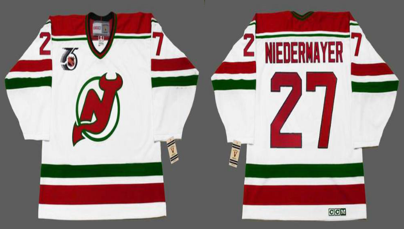 2019 Men New Jersey Devils 27 Niedermayer white CCM NHL jerseys