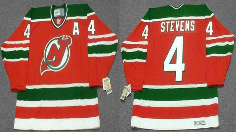2019 Men New Jersey Devils 4 Stevens red CCM NHL jerseys