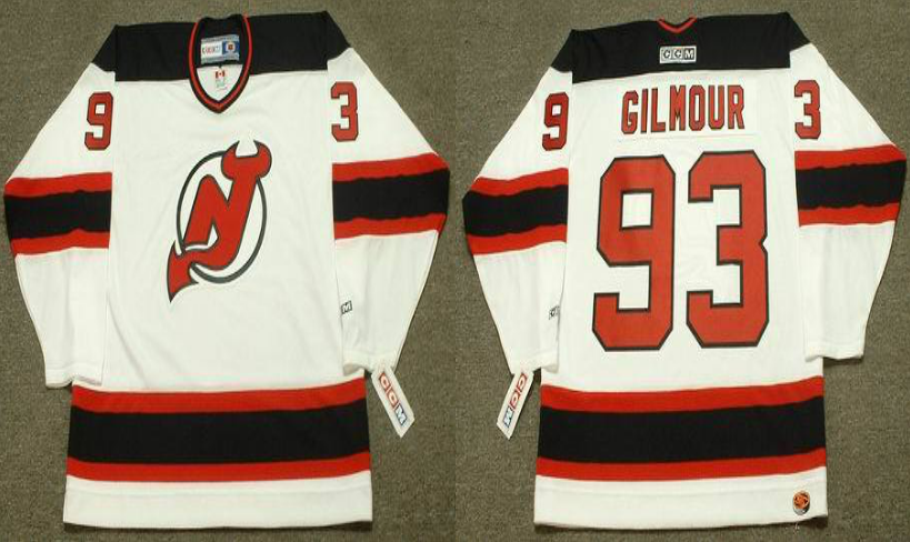 2019 Men New Jersey Devils 93 Gilmour white CCM NHL jerseys
