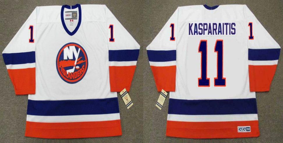 2019 Men New York Islanders 11 Kasparaitis white CCM NHL jersey