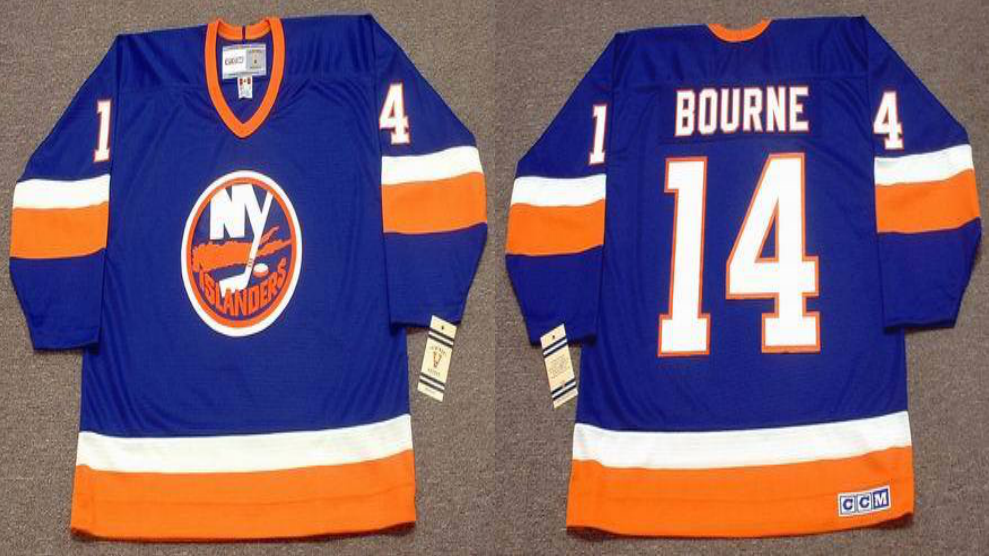 2019 Men New York Islanders 14 Bourne blue CCM NHL jersey