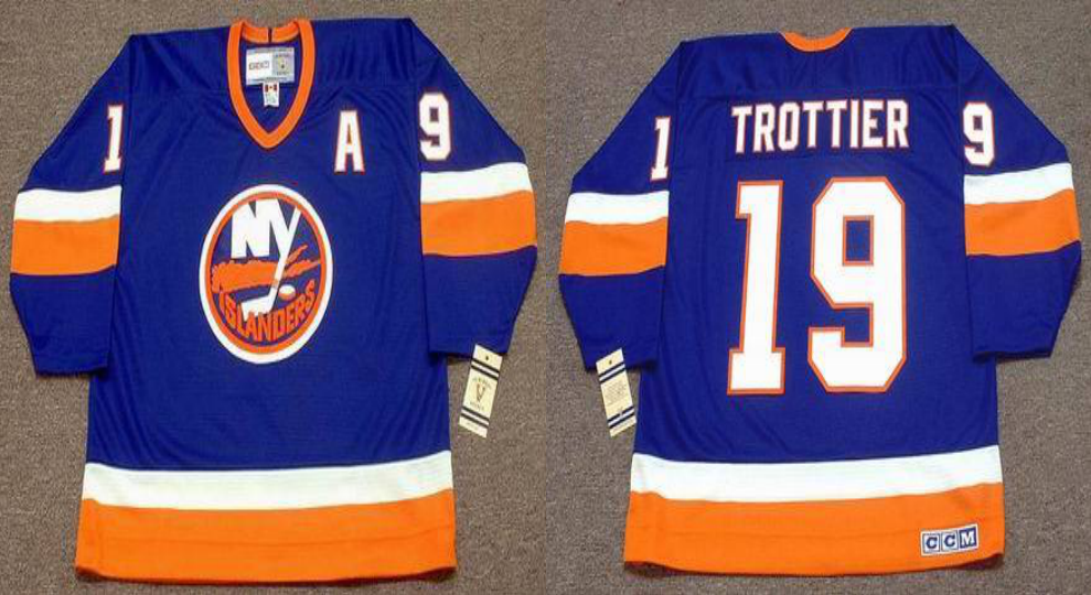 2019 Men New York Islanders 19 Trottier blue CCM NHL jersey
