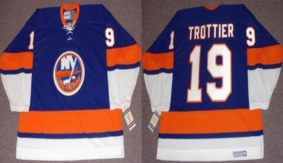 2019 Men New York Islanders 19 Trottier blue style 2 CCM NHL jersey