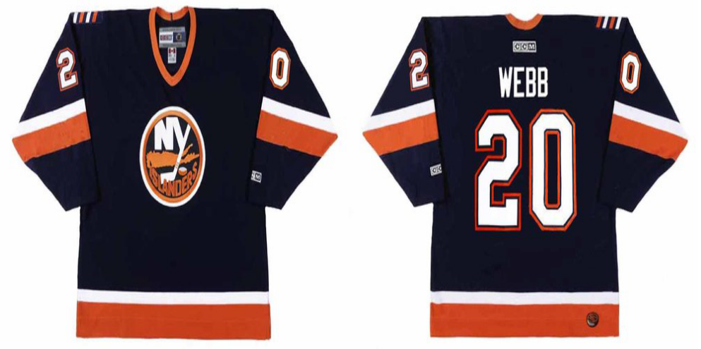 2019 Men New York Islanders 20 Webb blue CCM NHL jersey