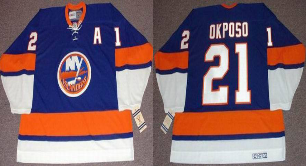 2019 Men New York Islanders 21 Okposo blue CCM NHL jersey