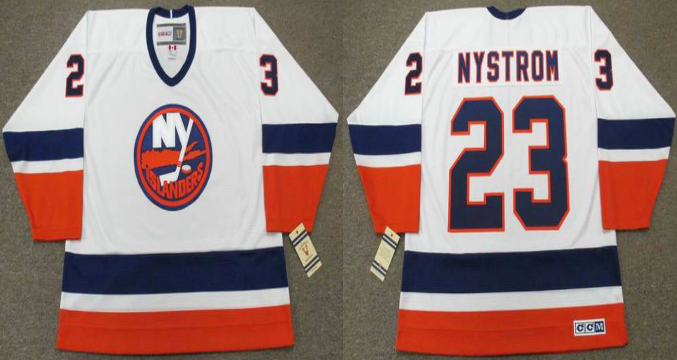 2019 Men New York Islanders 23 Nystrom white CCM NHL jersey