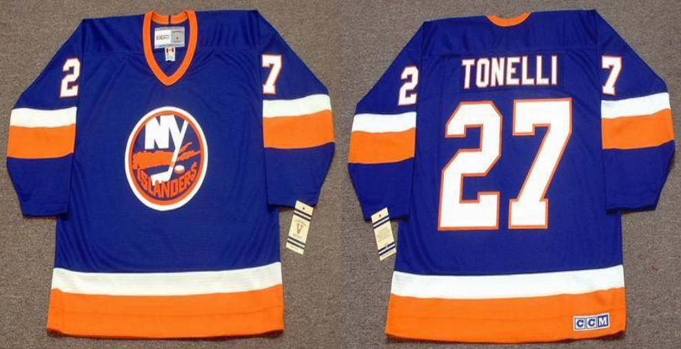 2019 Men New York Islanders 27 Tonelli blue CCM NHL jersey