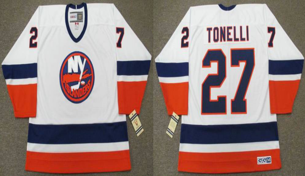 2019 Men New York Islanders 27 Tonelli white CCM NHL jersey
