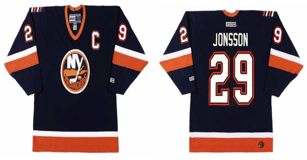 2019 Men New York Islanders 29 Jonsson blue CCM NHL jersey