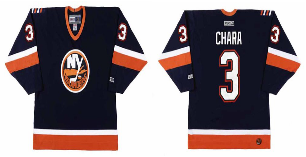 2019 Men New York Islanders 3 Chara blue CCM NHL jersey