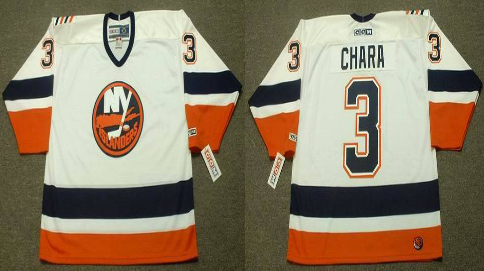 2019 Men New York Islanders 3 Chara white CCM NHL jersey