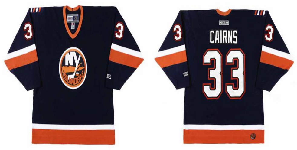 2019 Men New York Islanders 33 Cairns blue CCM NHL jersey
