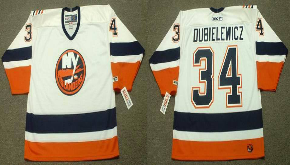 2019 Men New York Islanders 34 Dubielewicz white CCM NHL jersey