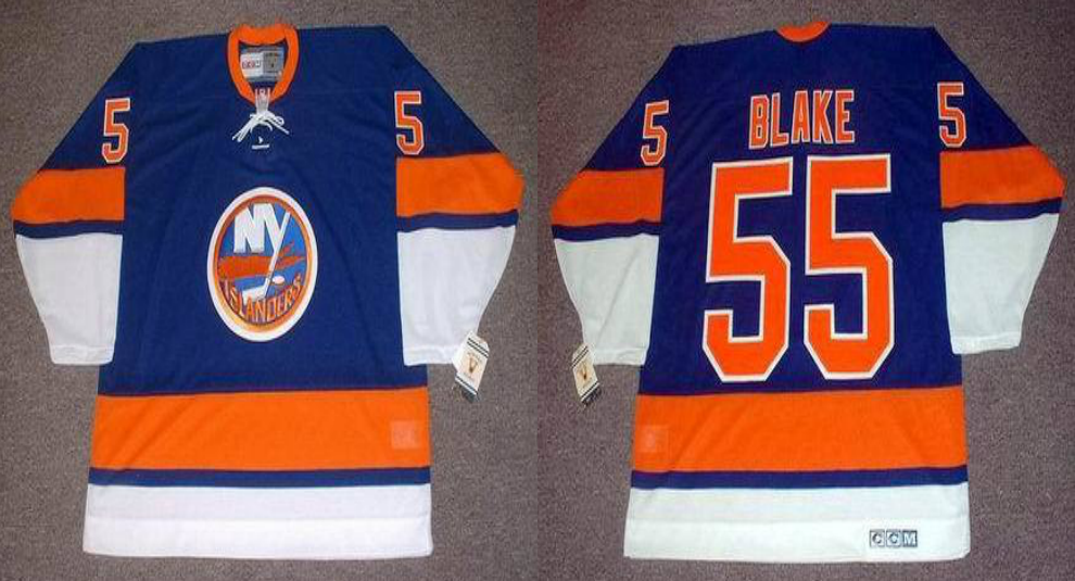 2019 Men New York Islanders 55 Blake blue CCM NHL jersey