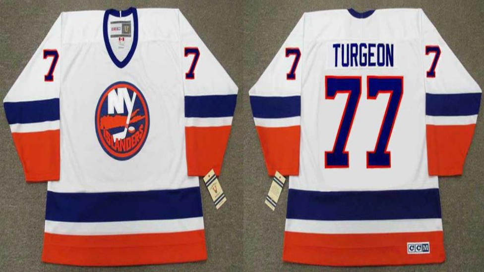 2019 Men New York Islanders 77 Turgeon white CCM NHL jersey