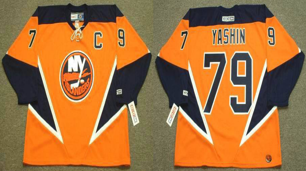 2019 Men New York Islanders 79 Yashin orange CCM NHL jersey