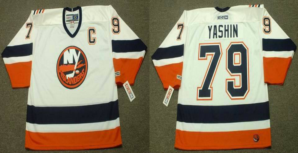 2019 Men New York Islanders 79 Yashin white CCM NHL jersey