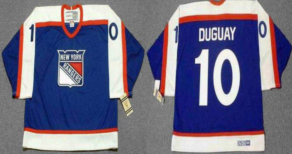 2019 Men New York Rangers 10 Duguay blue CCM NHL jerseys
