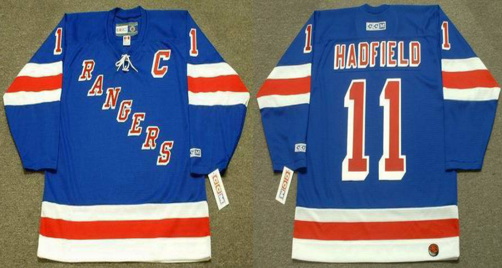 2019 Men New York Rangers 11 Hadfield blue CCM NHL jerseys