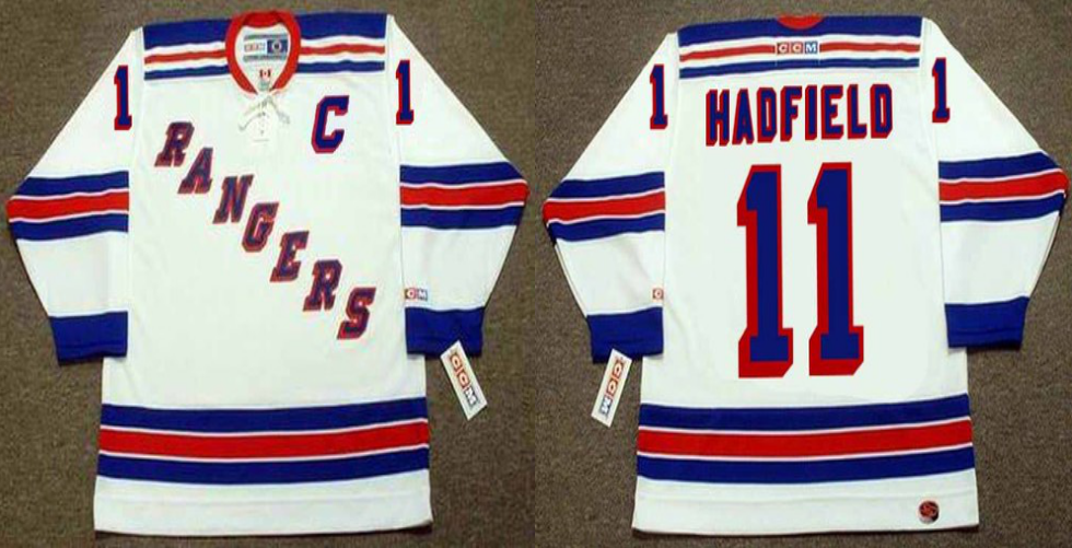 2019 Men New York Rangers 11 Hadfield white CCM NHL jerseys