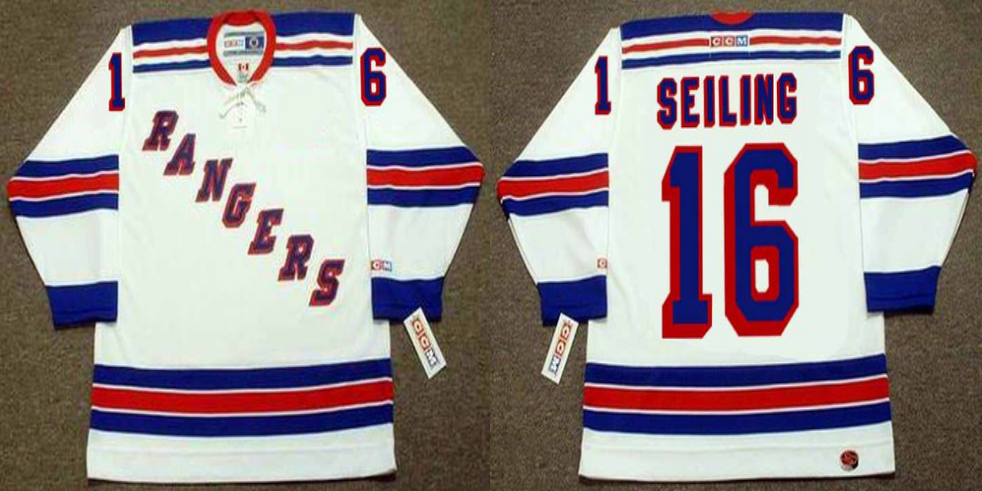 2019 Men New York Rangers 16 Seiling white CCM NHL jerseys