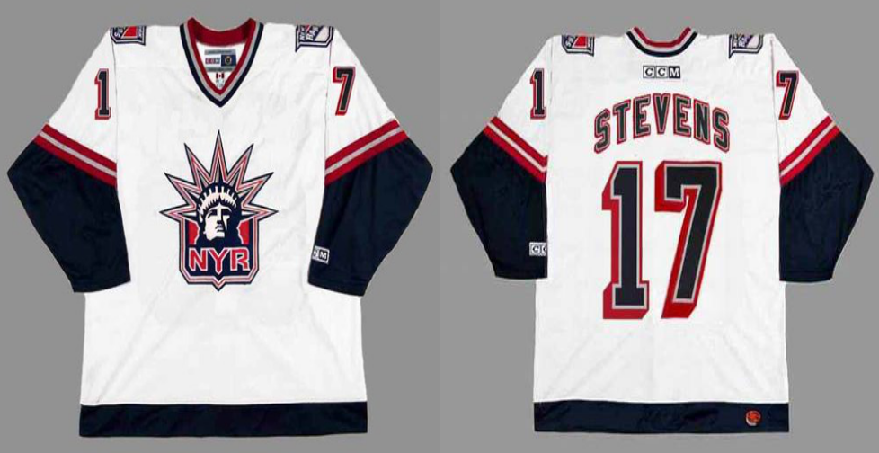 2019 Men New York Rangers 17 Stevens white CCM NHL jerseys