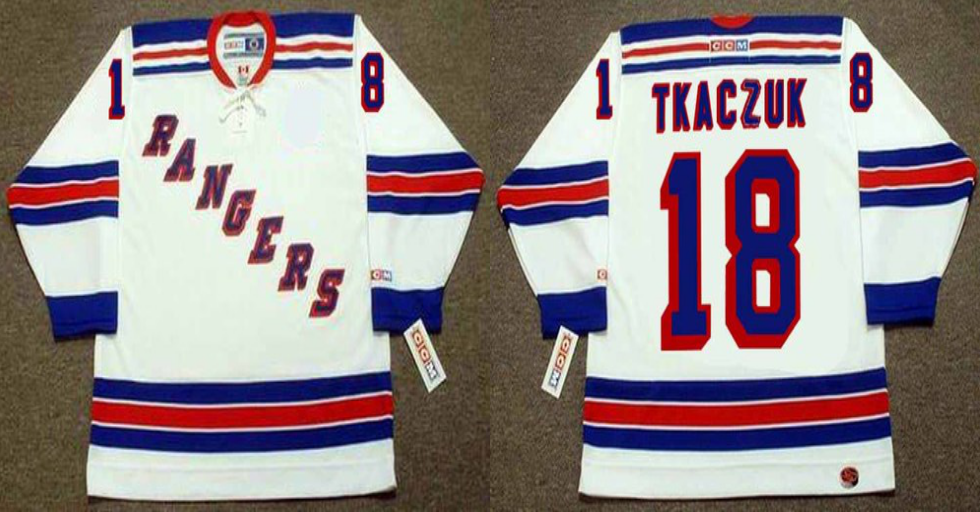 2019 Men New York Rangers 18 Tkaczuk white CCM NHL jerseys
