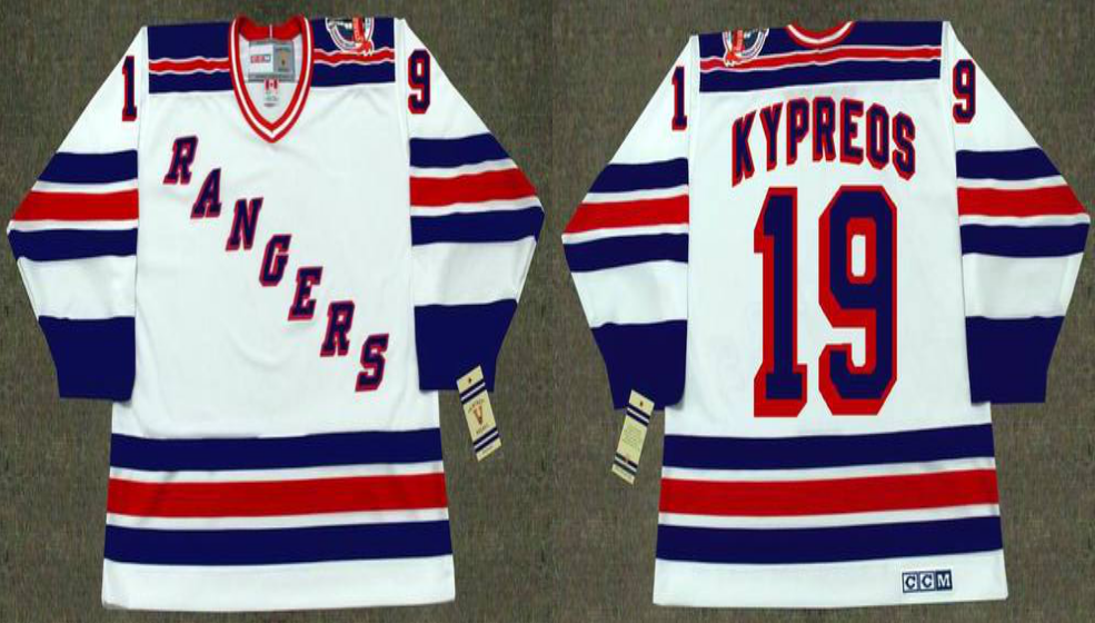 2019 Men New York Rangers 19 Kypreos white CCM NHL jerseys
